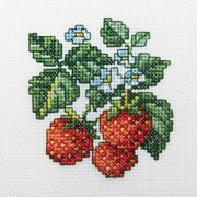 Wild Strawberries Counted Cross Stitch K
