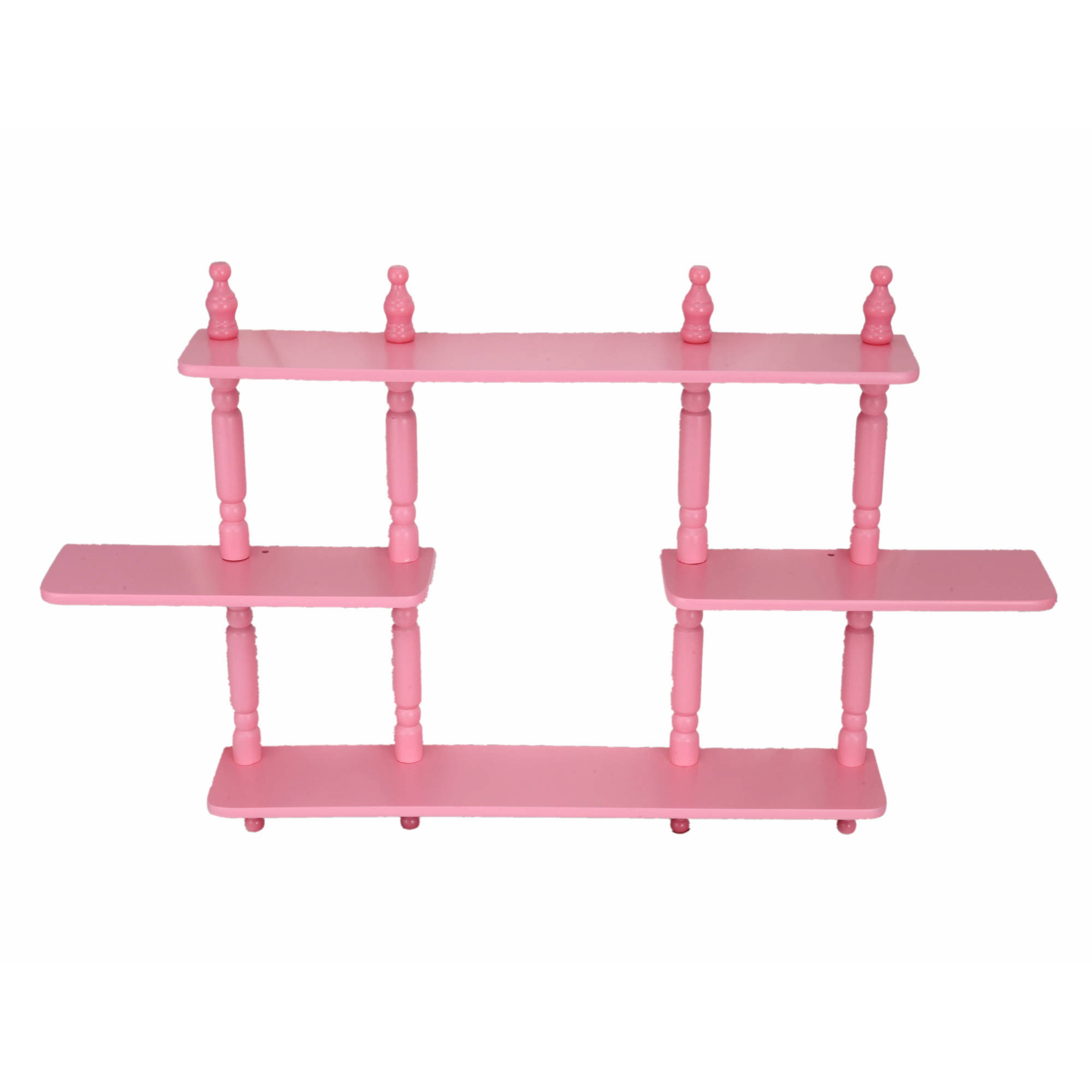 Home Craft 3-Tier Wall Shelves, Multiple Colors
