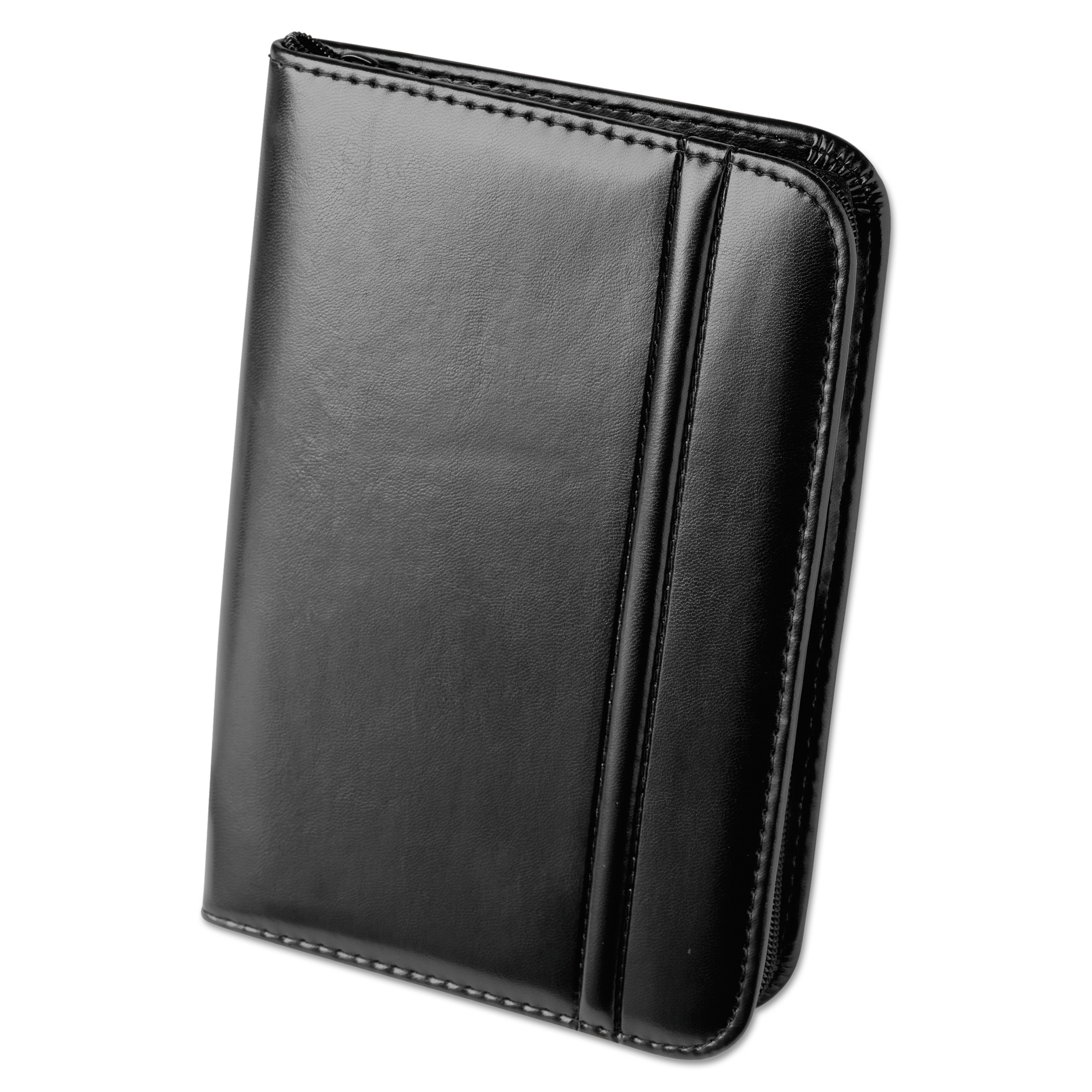 Rolodex Faux Leather Business Card Book with Zipper Holds 120 2 1 ...