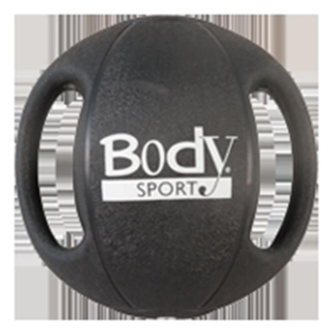 Body Sport ZZRMB18DG 18 lbs Double Grip Medicine Ball, Black by Body Sport