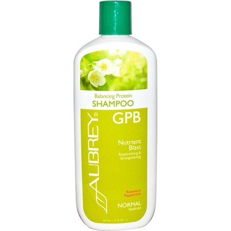 Aubrey Organics  GPB Balancing Protein Shampoo  Rosemary Peppermint  Normal  11 fl oz  325 (Gpb Glycogen Protein Balancing Shampoo)