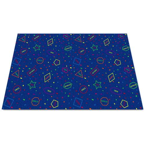 Kid Carpet I Know My Shapes Blue Area Rug