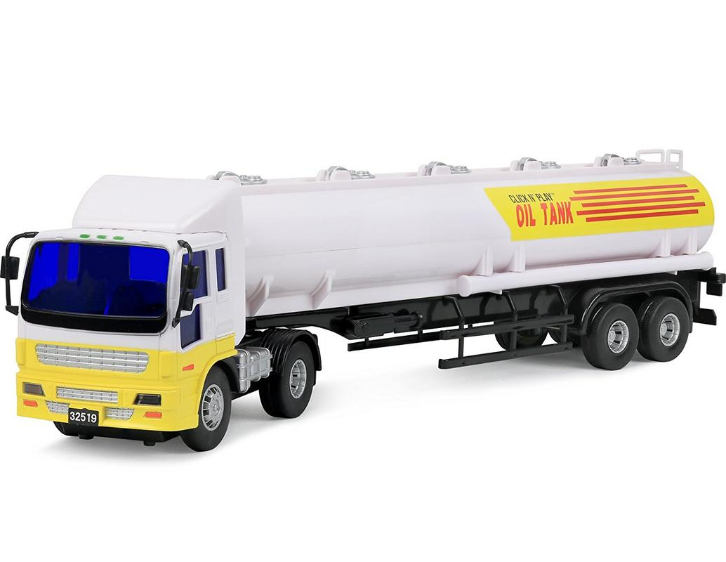 Click N Play Friction Powered Oil Tanker Truck Toy Vehicle for Kids by Click N' Play