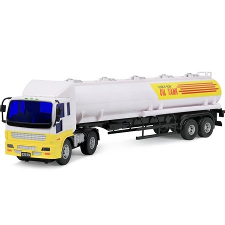 - Click N' Play Friction Powered Oil Tanker Truck Toy Vehicle for Kids