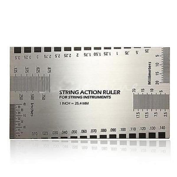 String Action Ruler Gauge Tool Guitar Ruler for Electric Bass Acoustic Guitar Mandolin Banjo