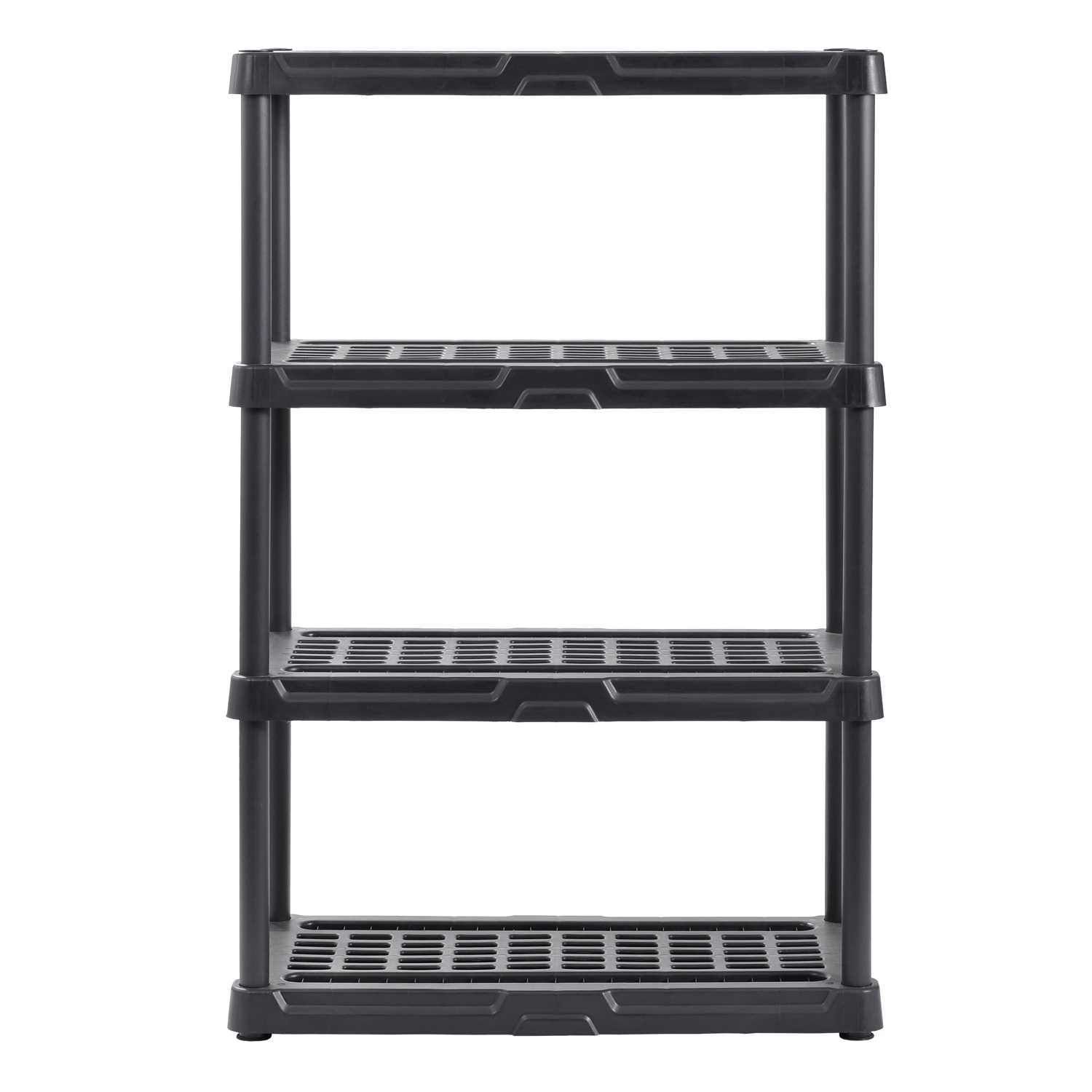 "Muscle Rack 36""W x 18""D x 56""H Four-Shelf Resin Shelving, Black"