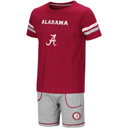 (Toddler Alabama Crimson Tide Short Sleeve Tee Shirt and Shorts Set - 2T)