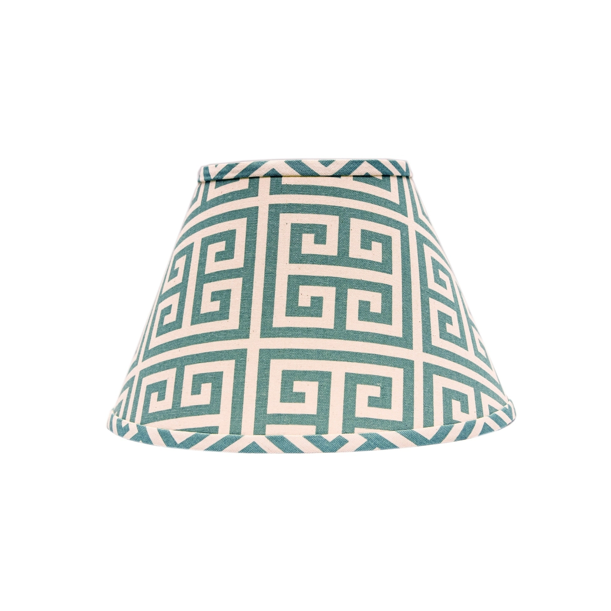 Somette Aqua Greek Key Empire Lamp Shades (Set of 4)