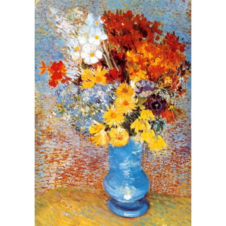 Vase of Flowers, c.1887 Art Print  By Vincent van (Vincent Van Gogh Vase)