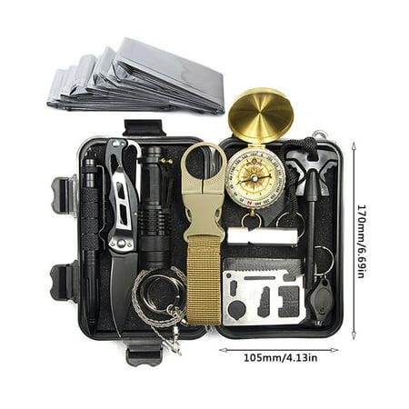 A3 Outdoor Equipment Survival Treasure Box Survival Tool Set 12 In 1 - image 3 de 6