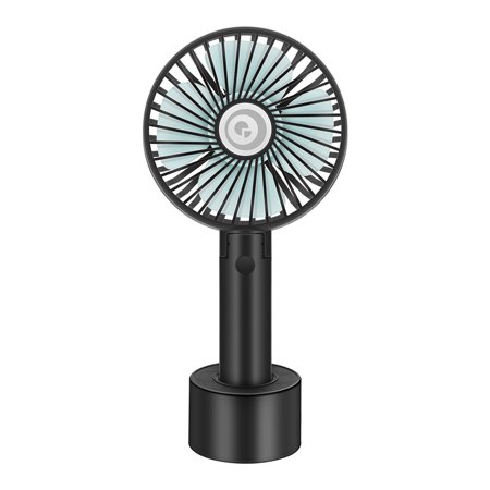 Digoo Mini Portable Handheld Fan Cooling Fan USB Battery with Desk Stand Base 3-Speed Mode for Traveling Home Office Indoor Outdoor - Battery Operated Hand Held Fans