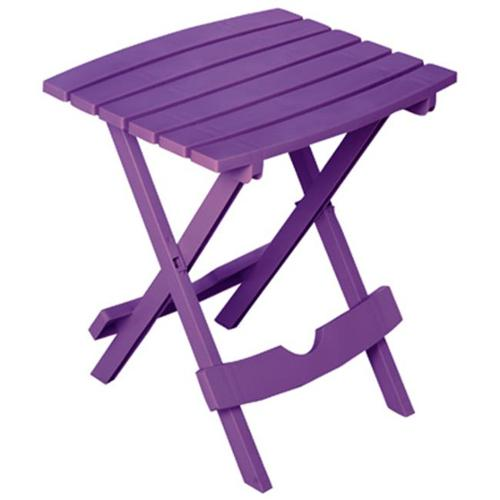 Adams 8500-12-3931 Quik Fold Portable Resin Side Table - Violet