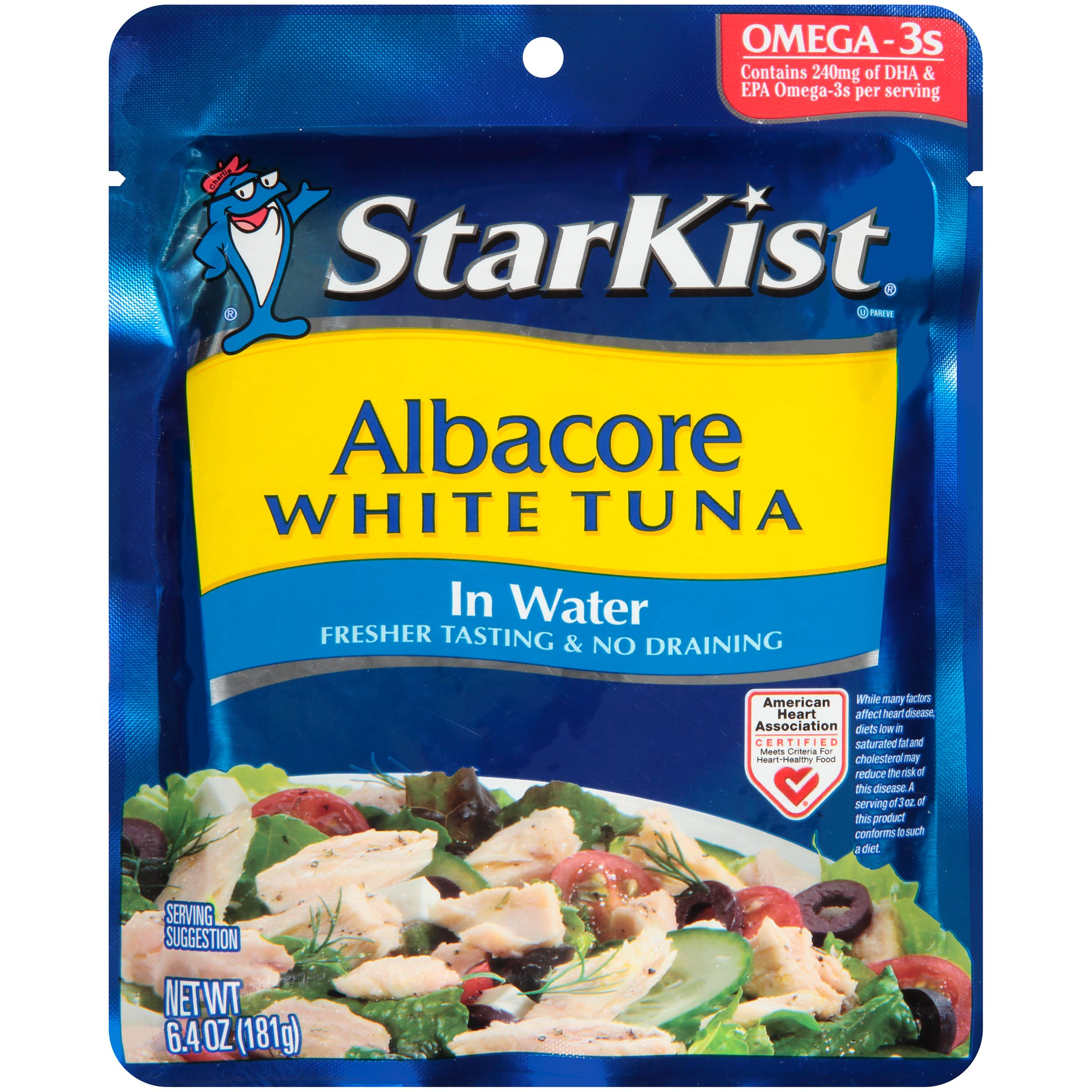StarKist Albacore White Tuna Pouch in Water, 6.4 oz Pouch