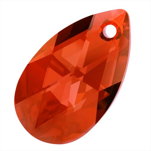 Swarovski Crystal, #6106 Pear Pendant 38mm, 1 Piece, Red Magma