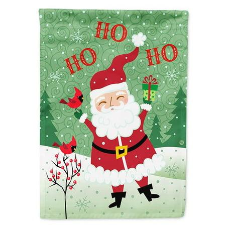 Carolines Treasures VHA3016CHF Merry Christmas Santa Claus Ho Ho Ho Flag Canvas House Size - image 1 of 1