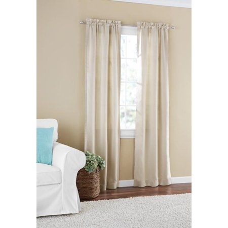 Mainstays Room Darkening Solid Woven Window Curtain Panel (Under Window Trim)