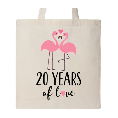 20th Wedding Anniversary Gift Flamingo Tote Bag Natural One Size ()