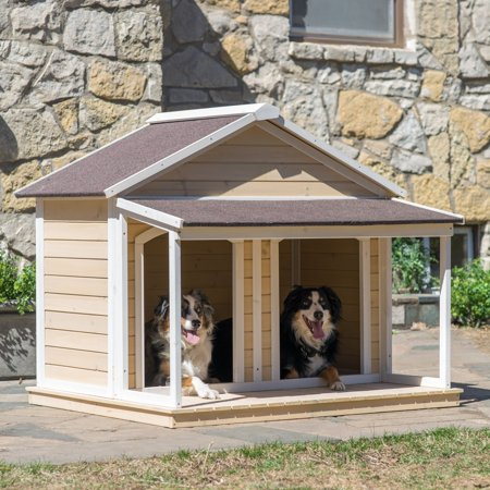 Dog House Blind - Boomer & George  Duplex Dog House - Antique White Wash