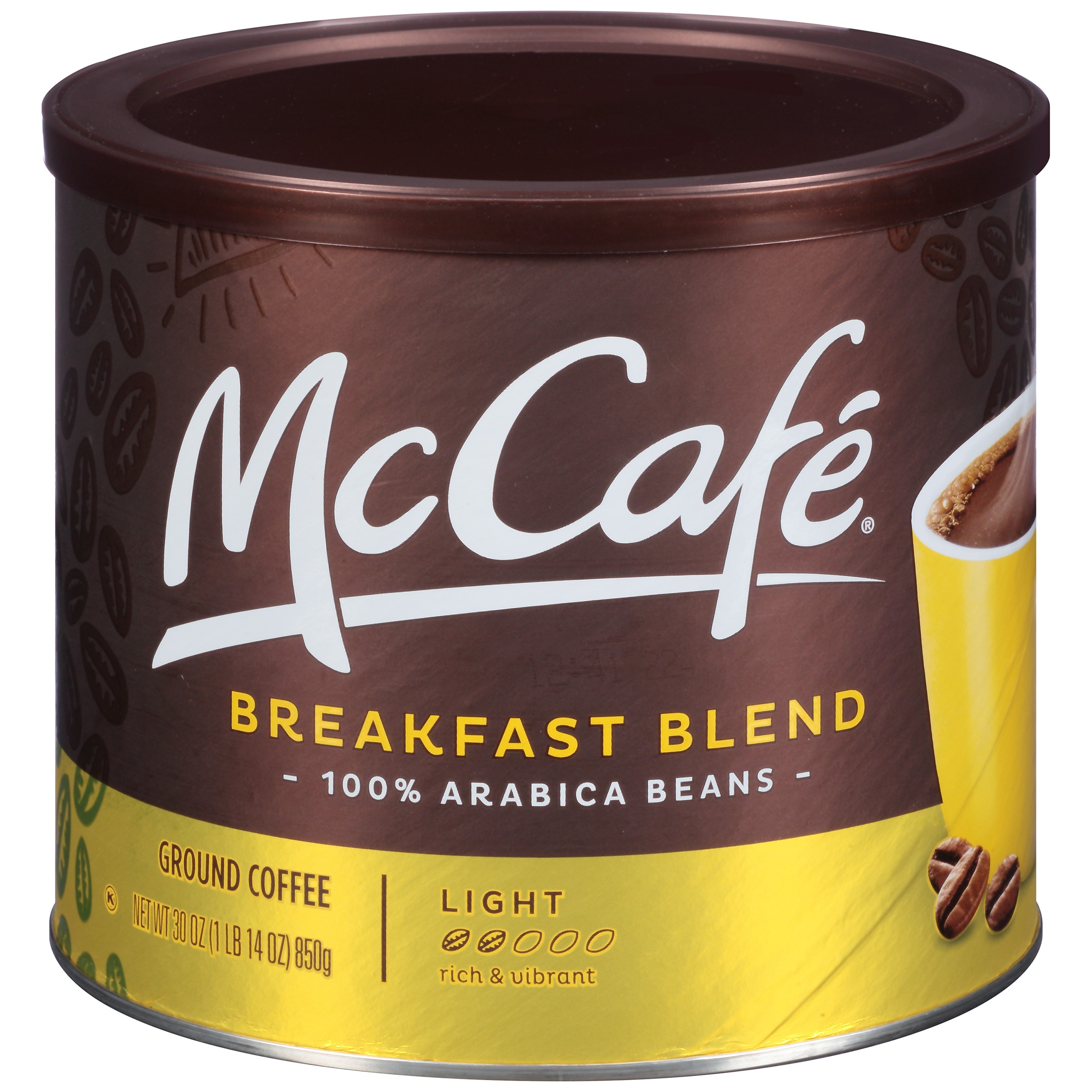 McCafe Breakfast Blend Ground Coffee, 30 oz (850 g) Canister