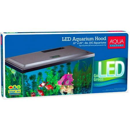 - Aqua Culture LED Aquarium Hood for 10-Gallon Aqua Culture Aquariums