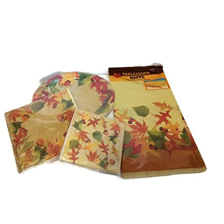 Thanksgiving Holiday Dinnerware Napkins Tablecloth Bundle, 1 Pack of 18 Dinner Plates By Sherris Gifts](Thanksgiving Plates And Napkins)