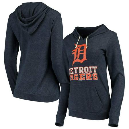 Detroit Tigers New Era Women's Jersey Tri-Blend Pullover Hoodie - Navy ()
