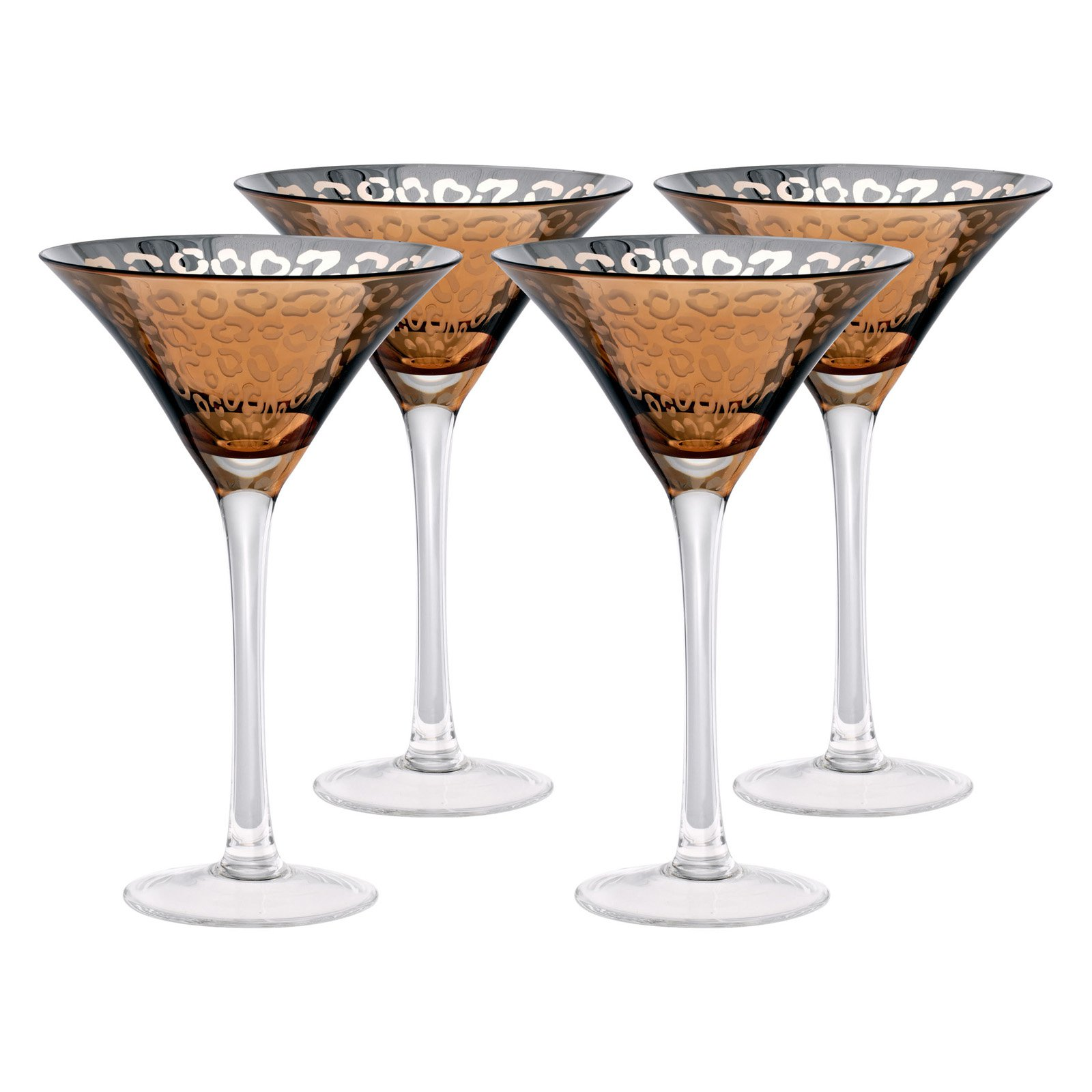 Artland Inc. Leopard Gold Martini Glasses - Set of 4