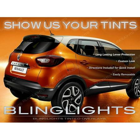 Tinted Overlays (New Renault Samsung QM3 Tinted Tail Lamp Light Overlays Pair Smoked Vinyl Decals Set)