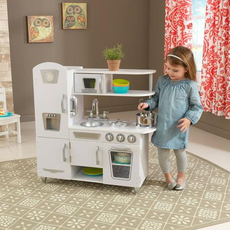 KidKraft Vintage Play Kitchen - White - Walmart.com