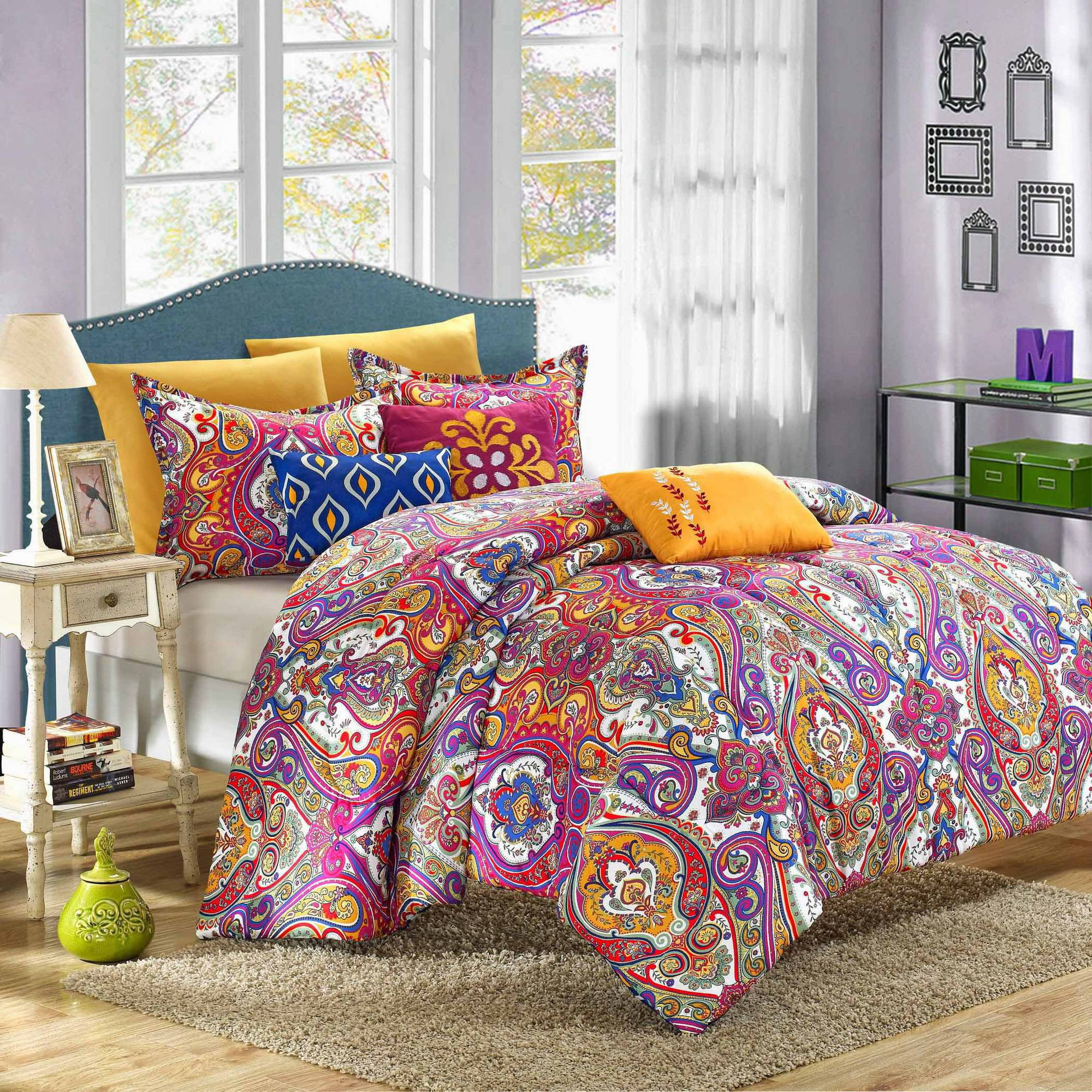 Chic Home Paisley Global Inspi 6-Piece Bombay Reversible Comforter Set