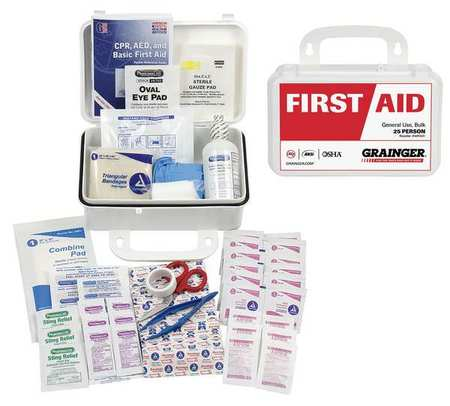 54629 First Aid Kit, ANSI Compliant, 101 pcs.
