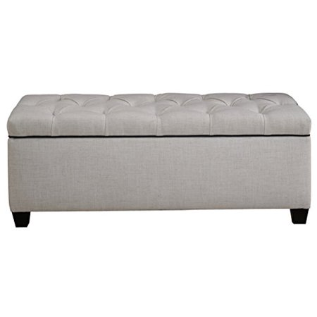 The Sole Secret Loft Charcoal Diamond Tufted Shoe Storage Bench,