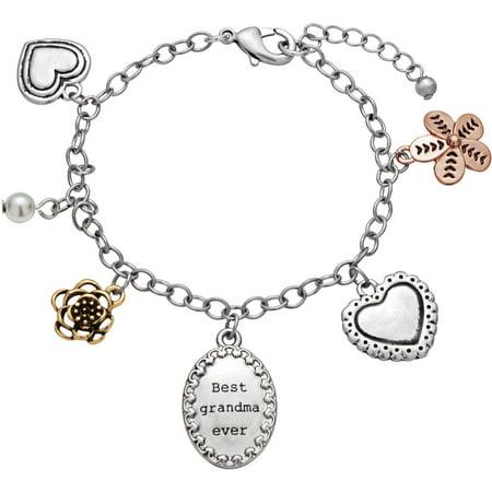 personalized sandra magsamen grandma oval engraved charm bracelet