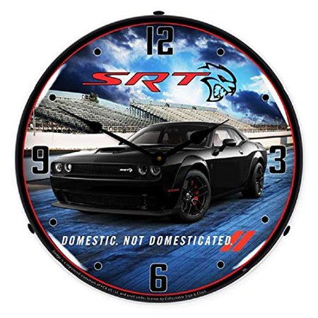 Dodge Challenger SRT Hellcat Pitch Black Muscle Car Wall Clock 14