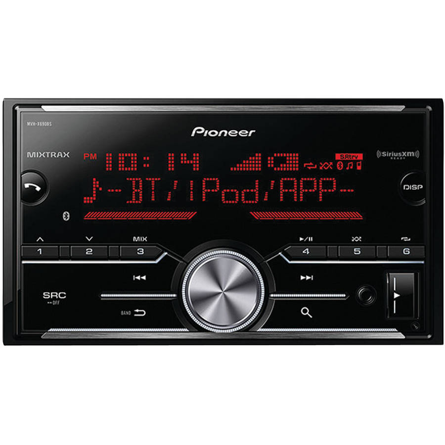 Pioneer MVH-X690BS Double-DIN In-Dash Digital Media Receiver with Bluetooth, MIXTRAX and SiriusXM Ready