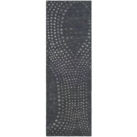 Safavieh Soho Andrew Polka Dots Wool Area Rug or Runner (Cotton Polka Dot Rug)