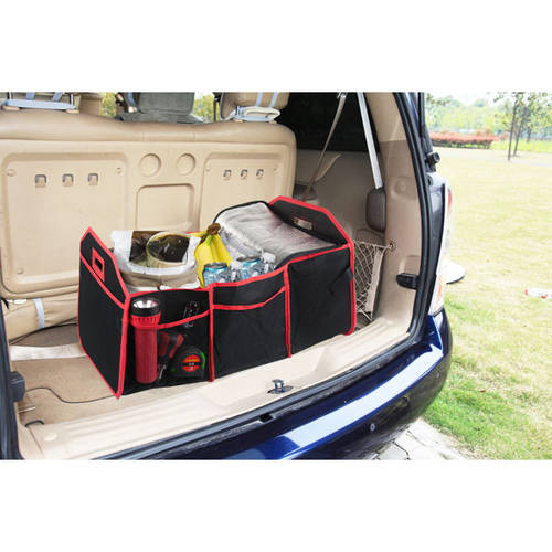 Home Basics Foldable Trunk Organizer with Cooler