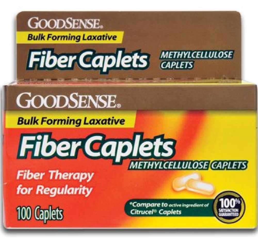 3 Pack - Good Sense Fiber Methylcellulose Caplets 100 ea