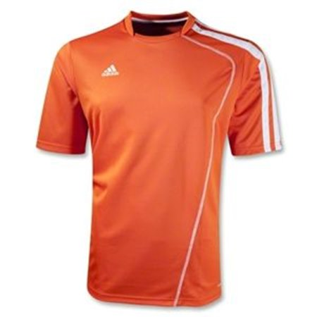 Adidas Boys Sossto Soccer Jersey T-Shirt Orange/White Size Youth Medium Orange Striped Soccer Jersey