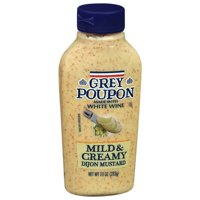 Grey Poupon Mustard Dijon Mild & Creamy, 10 oz, Bottle