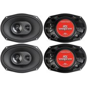 "4) New MTX TERMINATOR693 6x9"" 240W 2 Way Coaxial Car Audio Speakers Stereo Black"