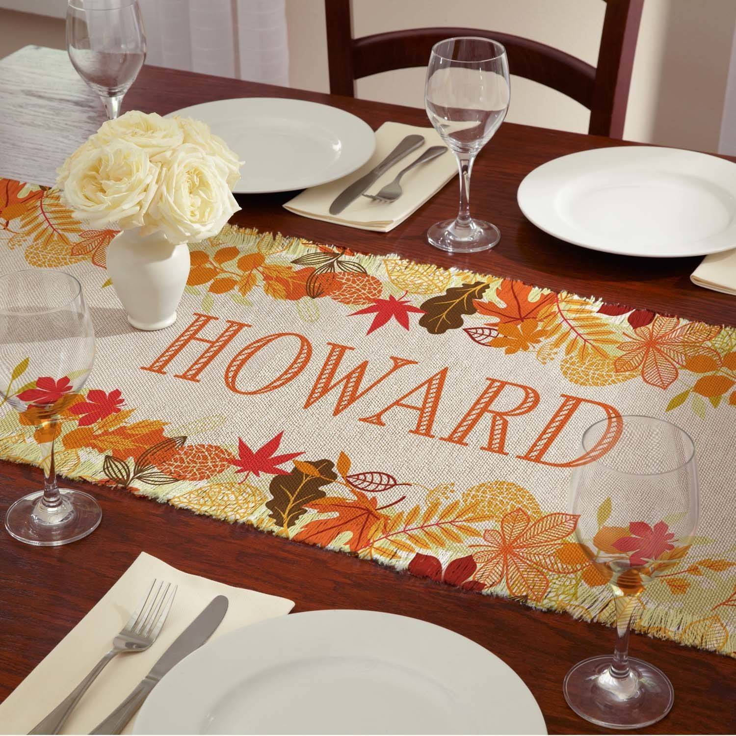 Personalized Fabulous Fall Table Runner