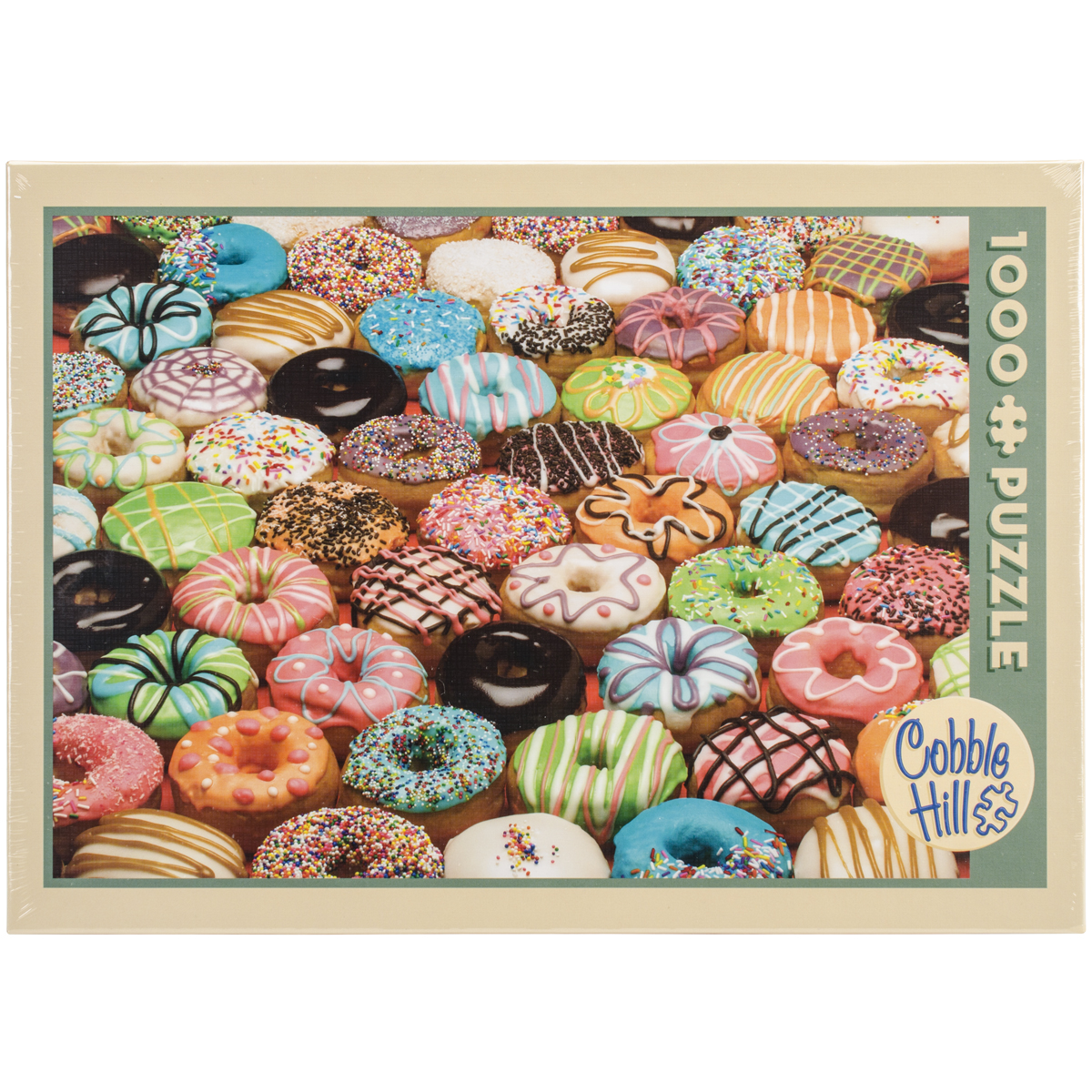 Cobble Hill: Doughnuts 1000 Piece Jigsaw Puzzle by Outset Media