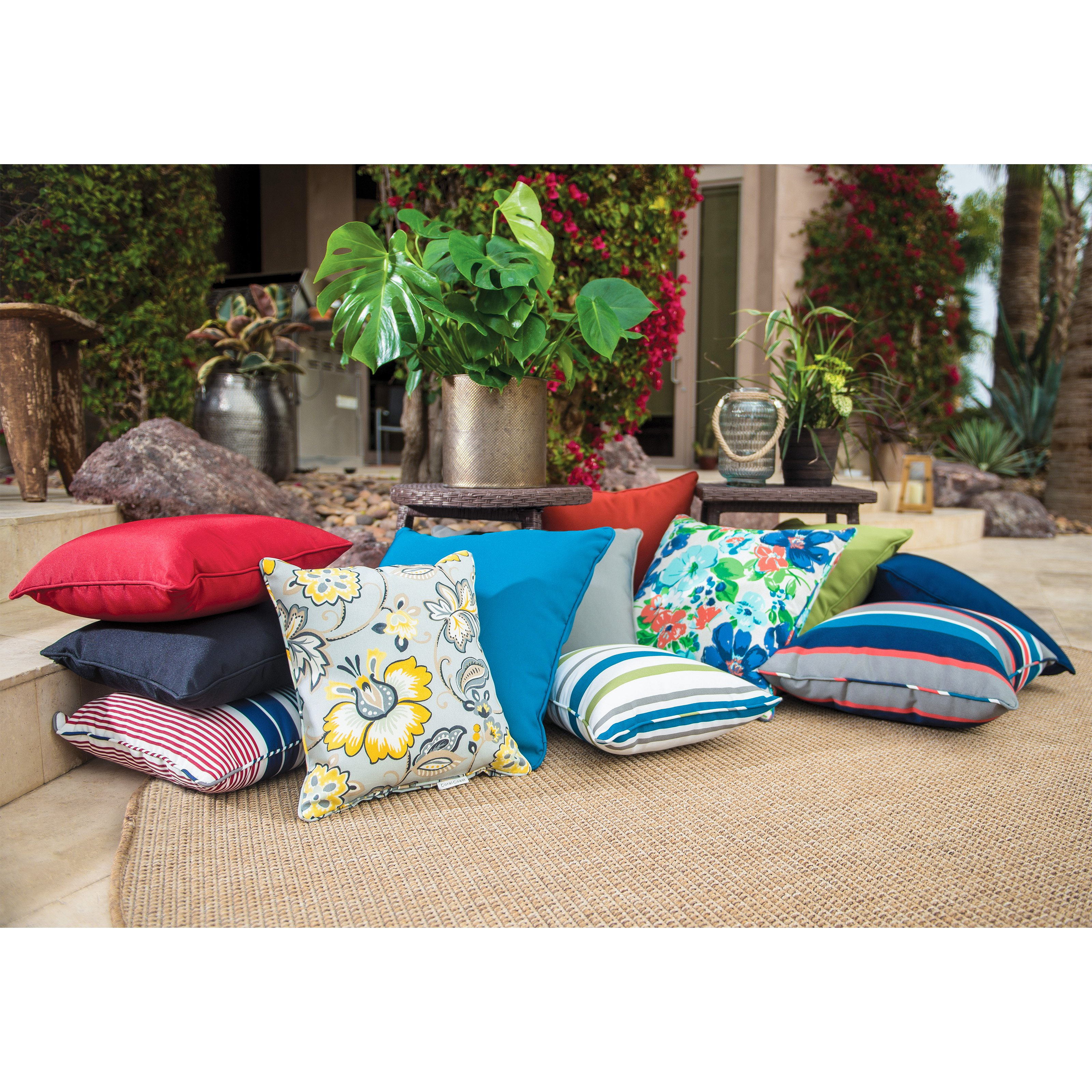 Coral Coast Classic 14 x 16 in. Outdoor Toss Pillow - Set of 2