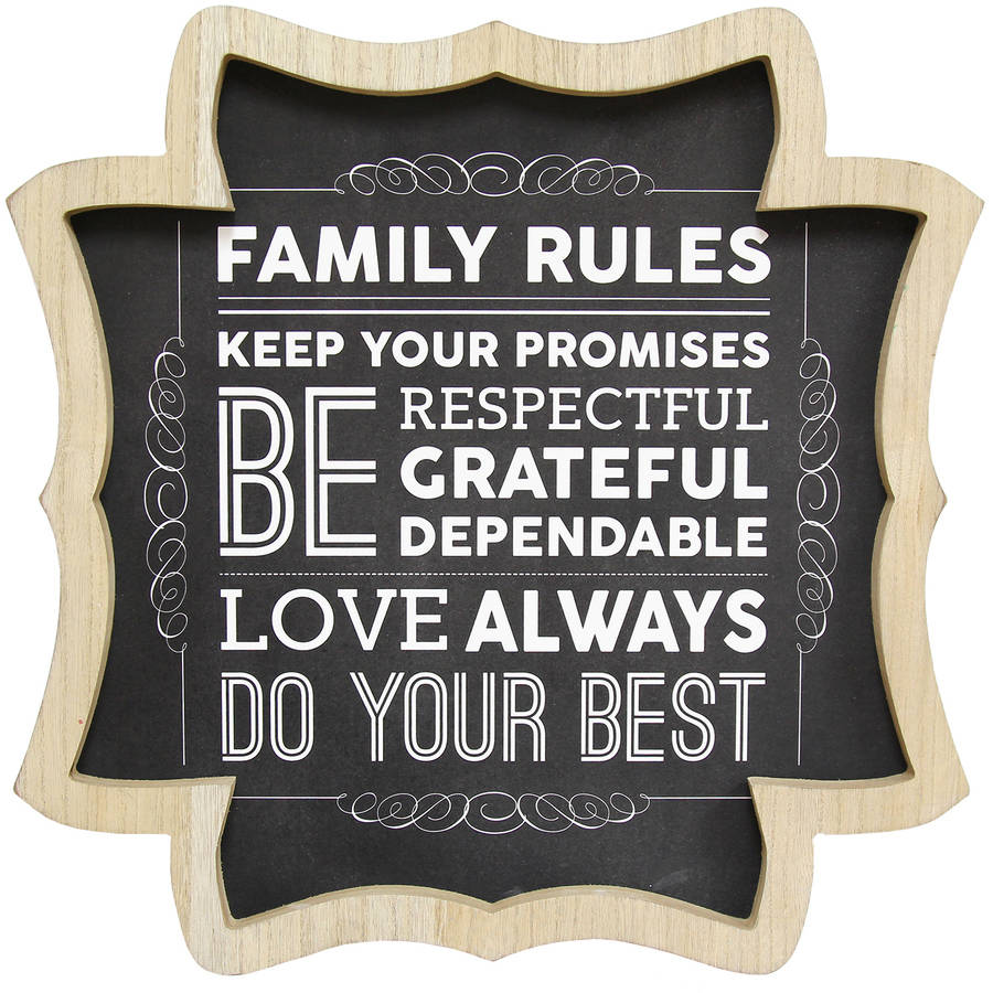 stratton home decor family rules wall art walmart com