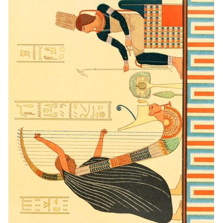 Ancient The History of Egypt 1901 Picture in the Hall of the Harps Canvas Art -  (18 x -