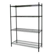 Nati Llc Steel Core Black Wire 54 Inch 4 Shelf Shelving Unit