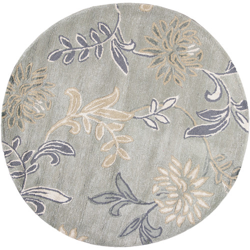 KAS Rugs Florence Silver Floral Area Rug