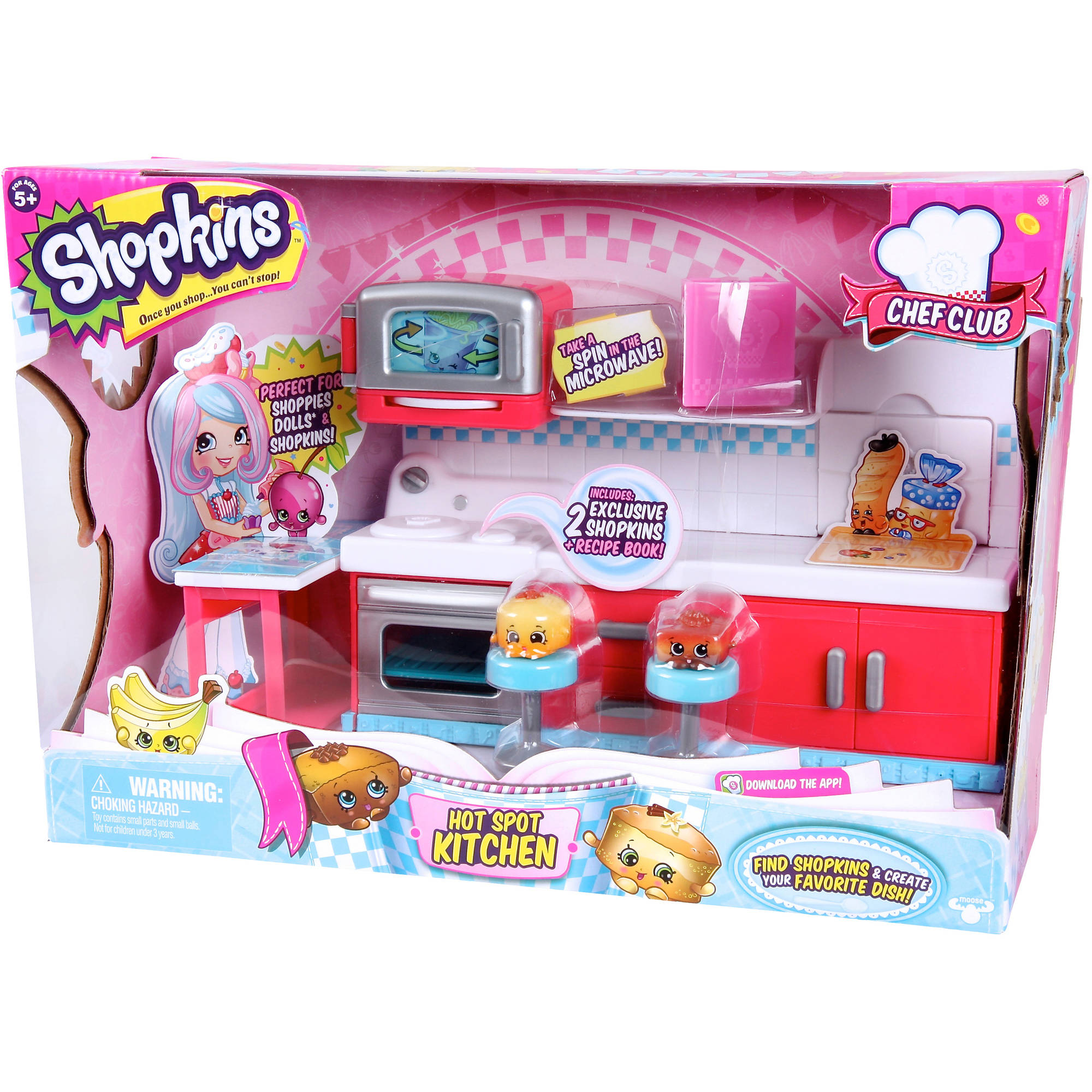 shopkins chef club hot spot kitchen walmartcom - Kitchen Playset