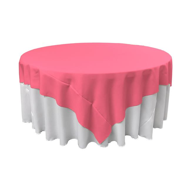 LA Linen TCpop90x90-HotPinkP38 Polyester Poplin Square Tablecloth, Hot Pink 90 x 90 in. by LA Linen